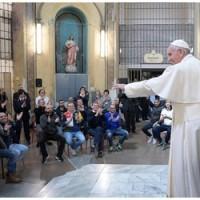 """Papa aos detentos na prisão de San Vittore: """"Me sinto em casa!"""""""
