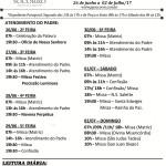 Comunicados Semanais – 26 de Junho a 02 de Julho de 2017