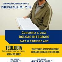 Processo Seletivo 2018 Faculdade Católica SJC
