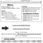Comunicados Semanais – 04 à 10 de Junho de 2018