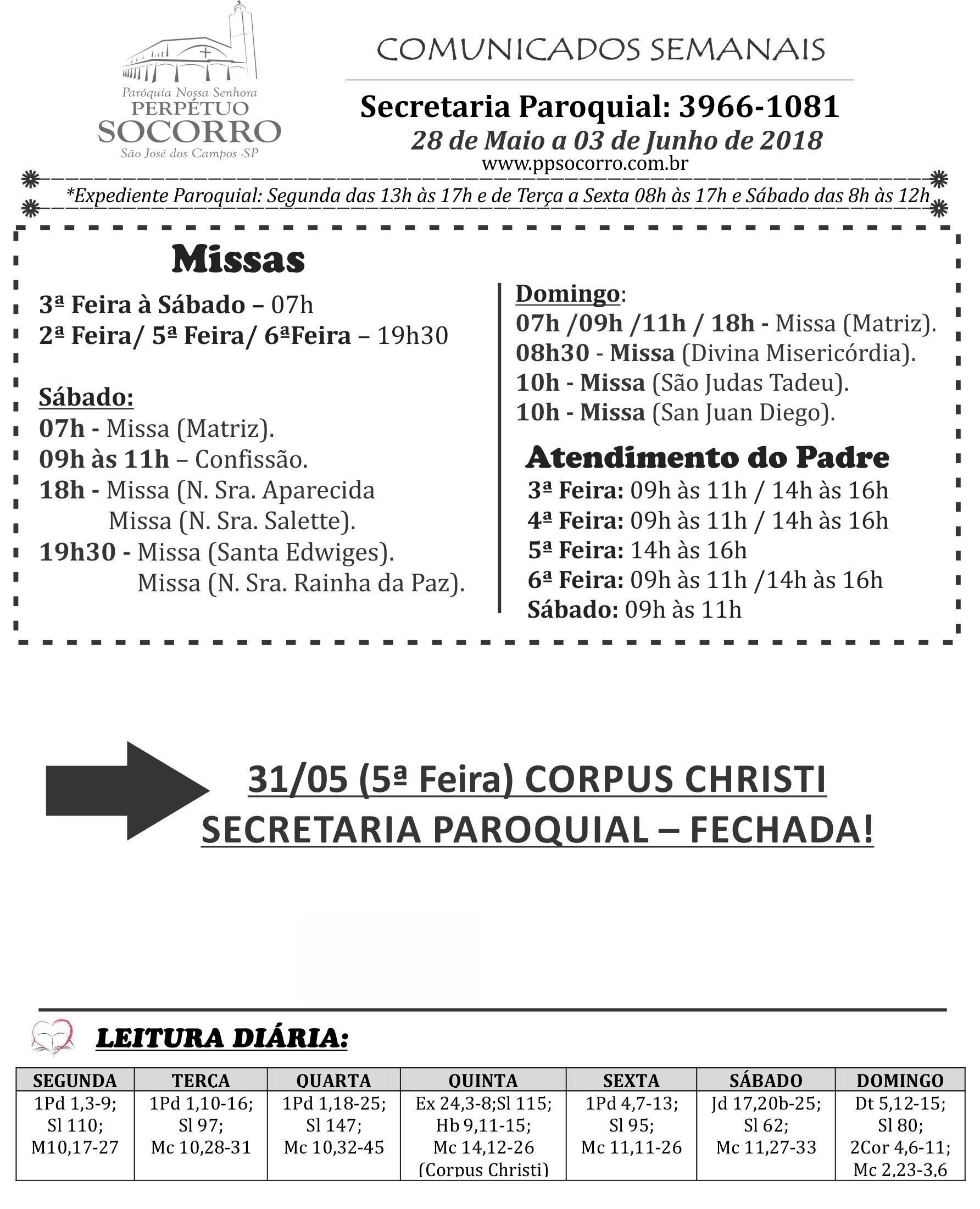 28 DE MAIO A 03 DE JUNHO1