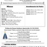 Comunicados Semanais – 01 à 07 de Outubro de 2018