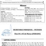 Comunicados Semanais – 04 à 10 de Março de 2019