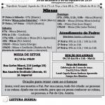 Comunicados Semanais – 30/09 a 06/10 de 2019