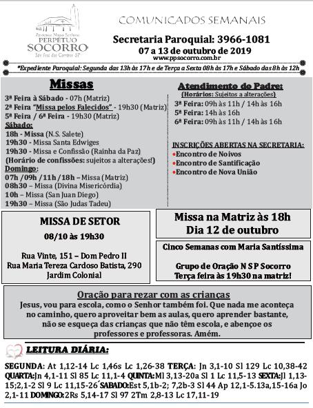 Comunicados 07 a 13 09 2019 - fl 01
