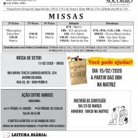 Comunicados Semanais – de 10 a 16/02/2020.