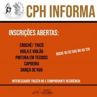 Inscrições para Cursos Gratuitos CPH.