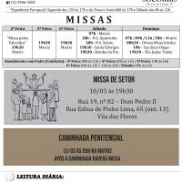Comunicados Semanais – de 09 a 15 de Março.