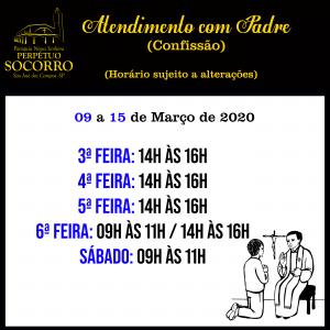 Atendimento Padre 09 a 15.03