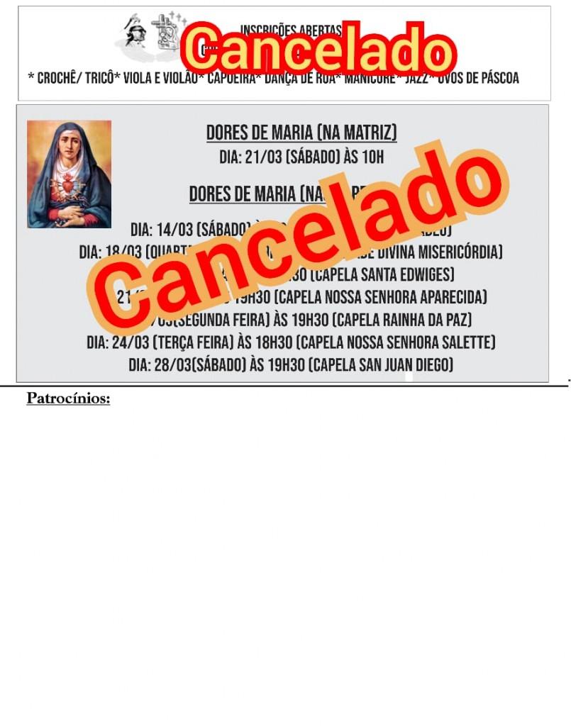 Comunicados de 16 a 22 Março e Cancelamentos (2)