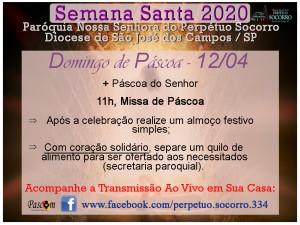 Semana Santa 2020 - Domingo de Páscoa