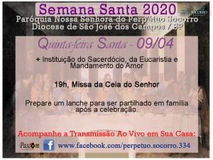 Semana Santa 2020 - Quinta F Santa 09 04