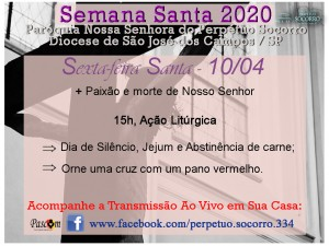 Semana Santa 2020 - Sexta F Santa 10 04