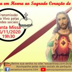 Sagrado Coração de Jesus – 06/11.
