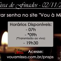 Missa de Finados – 02/11.