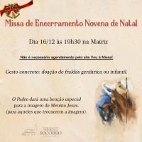 Missa de Encerramento da Novena de Natal 2020 – 16/12.