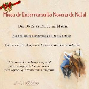 Missa de Encerramento Novena de Natal 16 12 2020b