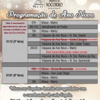 Missas de Ano Novo 31/12/2020 e 01/01/2021.