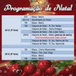 Missas de Natal 24 e 25/12/2020.