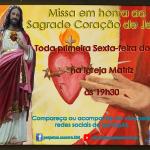Missa Sagrado Coração de Jesus – 05/02.