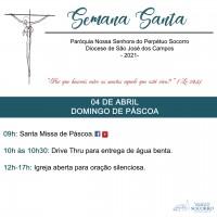 Semana Santa 2021 – Domingo de Páscoa.
