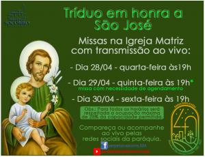Tríduo São José 2021