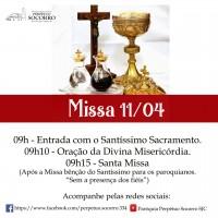 Festa da Divina Misericórdia – 11/04/2021 (acompanhe pelas redes sociais)