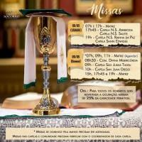 Horários de missas do fim de semana (08 e 09/05).