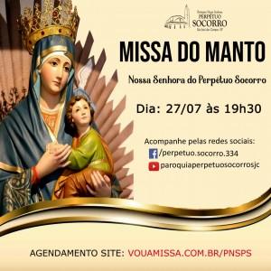 Missa do Manto 27.07 19h30