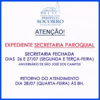 Expediente Secretaria Paroquial feriado SJC.