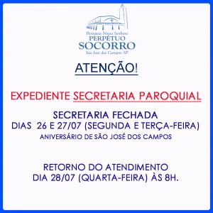 Secretaria-fechada-26 e 27 Julho 2021