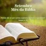 Setembro: mês da Bíblia.