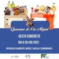 """Gesto concreto Quaresma de São Miguel – Dia """"D"""" 26/09/2021."""
