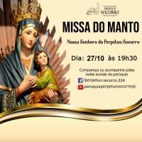 Missa do Manto – 27/10 às 19h30.